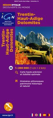 TRENTIN-HAUT-ADIGE DOLOMITES 1:200.000 -DÉCOUVERTE DES REGIONS DU MONDE -IGN