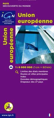 UNION EUROPEENNE 1:6.000.000 -IGN DECOUVERTE DES PAYS DU MONDE