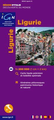 LIGURIE 1:200.000 -IGN DECOUVERTE DES REGIONS DU MONDE