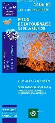 4406 RT PITON DE LA FOURNAISE. ILE DE LA REUNION 1:25.000 -IGN