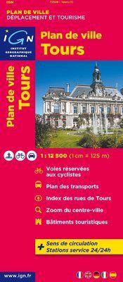 TOURS 1:12.500 [LLIBRET] PLAN DE VILLE -IGN