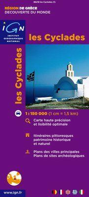 CYCLADES, LES 1:150.000 -IGN DECOUVERTE DES REGIONS DU MONDE