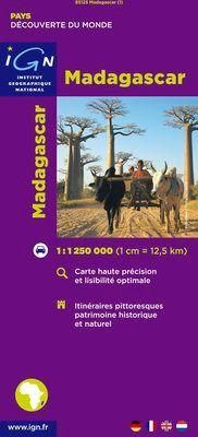 MADAGASCAR 1:1.250.000 -IGN DECOUVERTE DES PAYS DU MONDE
