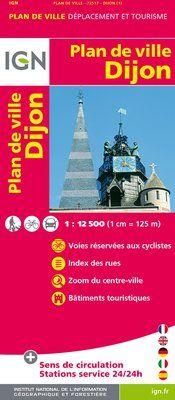 DIJON 1:12.500 PLAN DE VILLE -IGN