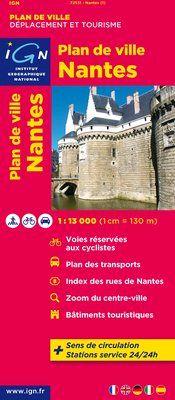 NANTES 1:13.000 -PLAN DE VILLE -IGN