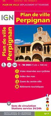 PERPIGNAN 1:10.000 -PLAN DE VILLE -IGN