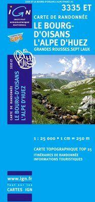 3335 ET LE BOURG D'OISANS/L'ALPE D'HUEZ 1:25.000 -TOP 25 IGN