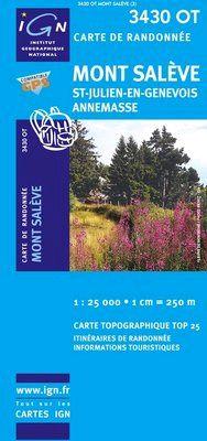 3430 OT MONT SALEVE ST-JULIEN-EN-GENEVOIS. ANNEMA 1:25.000 -IGN