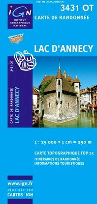 3431 OT LAC D'ANNECY 1:25.000 -TOP 25 IGN