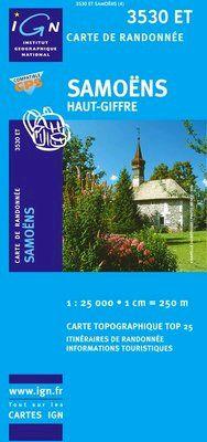 3530 ET SAMOENS HAUT-GIFFRE 1:25.000 -TOP 25 IGN