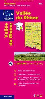 R20 VALLEE DU RHONE 1:250.000 -IGN REGIONALE (2011)