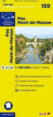 159 PAU MONT-DE-MARSAN 1:100.000 -TOP 100 IGN