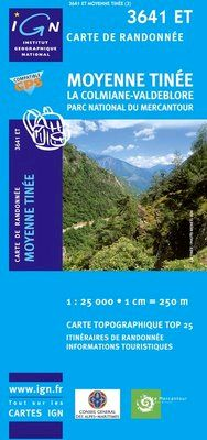 3641 ET MOYENNE TINEE 1:25.000 -TOP 25 IGN