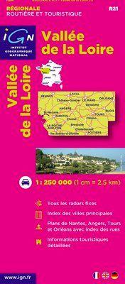 R21 VALLEE DE LA LOIRE 1:250.000 -IGN REGIONALE (2011)