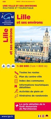 LILLE ET SES ENVIRONS 1:80.000 -IGN