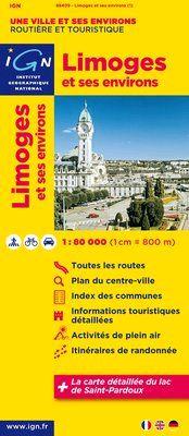 LIMOGES ET SES ENVIRONS 1:80.000 -IGN