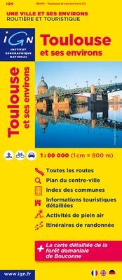 TOULOUSE ET SES ENVIRONS 1:80.000 -IGN
