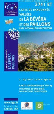 3741 ET VALLEES DE LA BEVERA 1:25.000 -TOP 25 IGN