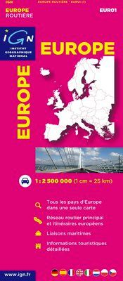 EUR01 EUROPE 1:2.500.000 ROUTIERE -IGN