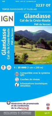 3237 OT GLANDASSE 1:25.000 -TOP 25 -IGN