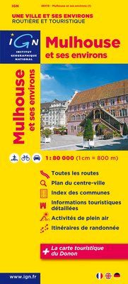 MULHOUSE ET SES ENVIRONS 1:80.000 -IGN