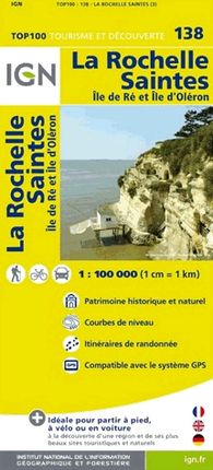 138 LA ROCHELLE SAINTES 1:100.000 -TOP 100 IGN