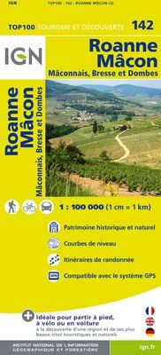 142 ROANNE MACON 1:100.000 -TOP 100 IGN