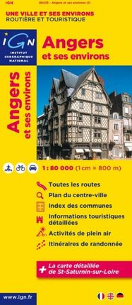 ANGERS ET SES ENVIRONS 1:80.000 -IGN