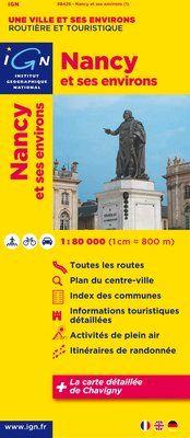 NANCY ET SES ENVIRONS 1:80.000 -IGN
