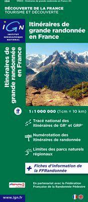 903 ITINERAIRES DE GRANDE RANDONNEE EN FRANCE (9) 1:1.000.000 -IGN