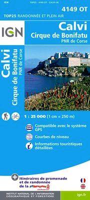 4149 OT CALVI/CIRQUE DE BONIFATU 1:25.000 -TOP 25 IGN