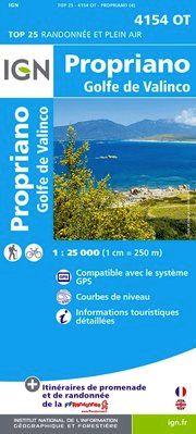 4154 OT PROPRIANO/GOLFE DE VALINCO 1:25.000 -TOP 25 IGN