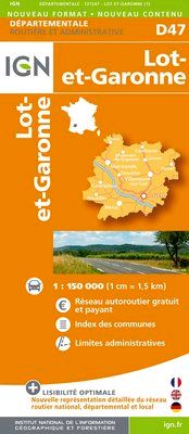 D47 LOT-ET-GARONNE 1:200.000 -DEPARTEMENTALE IGN
