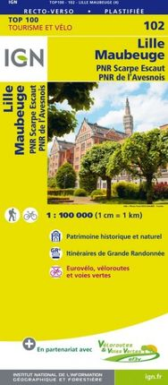 102 LILLE MAUBEUGE 1:100.000 -TOP 100 IGN