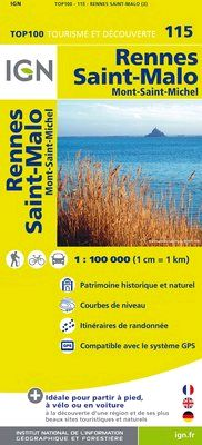 115 RENNES SAINT-MALO 1:100.000 -TOP 100 IGN