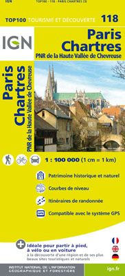 118 PARIS CHARTRES 1:100.000 -TOP 100 IGN