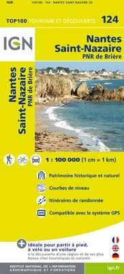 124 NANTES SAINT-NAZAIRE 1:100.000 -TOP 100 IGN