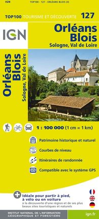 127 ORLEANS BLOIS 1:100.000 -TOP 100 IGN