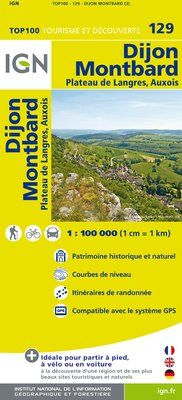129 DIJON MONTBARD 1:100.000 -TOP 100 IGN