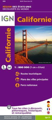 CALIFORNIE 1:800.000 -IGN DECOUVERTE DES REGIONS DU MONDE