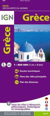GRECE 1:800.000 -IGN DECOUVERTE DES PAYS DU MONDE