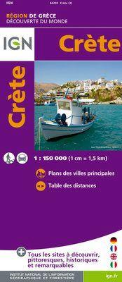 CRETE 1:150.000 -IGN DECOUVERTE DES REGIONS DU MONDE