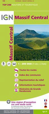 MASSIF CENTRAL 1:200.000 -TOP 200 IGN