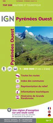 PYRENEES OUEST 1:200.000 -TOP 200 IGN