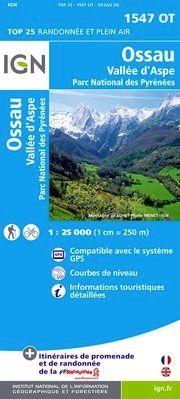 1547 OT OSSAU-VALLEE D'ASPE 1:25.000 -TOP 25 IGN