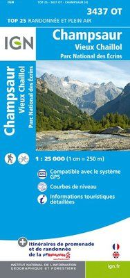 3437 OT CHAMPSAUR 1:25.000 -TOP 25 -IGN