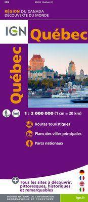 QUEBEC 1:2.000.000 -IGN DECOUVERTE DES REGIONS DU MONDE