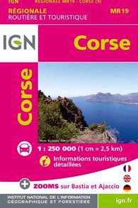 MR19 CORSE. MINI REGIONALE 1:250.000 -IGN