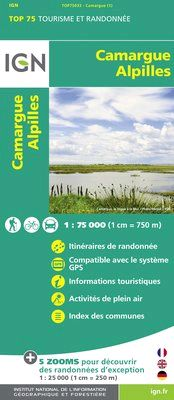 CAMARGUE ALPILLES 1:75.000 -TOP 75 IGN
