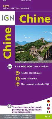 CHINE 1:4.000.000 -IGN DECOUVERTE DES PAYS DU MONDE